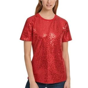 DKNY Sequined T-shirt